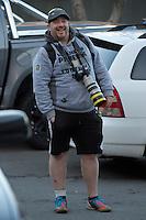 "Photographer Cameron ""Photomac"" Macintosh at the Central League football match between Miramar Rangers and Wellington United at David Farrington Park, Wellington, New Zealand on Saturday, 2 July 2016. Photo: Dave Lintott / lintottphoto.co.nz"