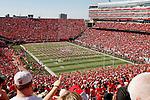 Memorial Stadium in Lincoln, NE prior to the ASU vs. Nebraska game 9-15-12