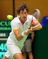 08-04-12, Netherlands, Amsterdam, Tennis, Daviscup, Netherlands-Rumania, Robin Haase