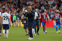 11th September 2021; Selhurst Park, Crystal Palace, London, England;  Premier League football, Crystal Palace versus Tottenham Hotspur: A disappointed Tottenham Hotspur Manager Nuno Espírito Santo applauding the Spurs fans at full time