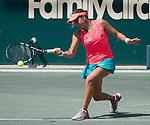 Jana Cepelova (SVK) loses to Sara Errani (ITA) 6-3, 7-6 at the Family Circle Cup in Charleston, South Carolina on April 8, 2015.