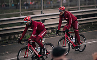 Marcel Kittel (DEU/Katusha-Alpecin) following Nathan Haas' (AUS/Katusha-Alpecin) wheel<br /> <br /> 109th Milano-Sanremo 2018<br /> Milano > Sanremo (291km)