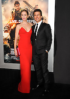 """NEW YORK CITY, NY, USA - MAY 28: Actors Emily Blunt and Tom Cruise arrive at the New York Premiere Of """"Edge Of Tomorrow"""" held at AMC Loews Lincoln Square on May 28, 2014 in New York City, New York, United States. (Photo by Celebrity Monitor)"""