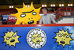 Partick Thistle launch new sponsor, Califonia based Kingsford Capital Management and new mascot Kingsley designed by artist David Shrigley. Pictured is US investor Mike Wilkins from Kingsford