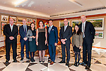 (L-R) Iain Roberts, Group Executive Director, Mission Hills Group, Robert Fleming, Director of Development, University of St Andrews, Dr. Catherine Chu, Executive Director, Mission Hills Group and Mission Hills International Education Limited, Professor Louise Richardson, Principal and Vice-Chancellor, University of St Andrews, Tenniel Chu, Vice Chairman, Mission Hills Group, John Jalsevac, Head of School, Mission Hills International School, Wei Lin, International Officer, University of St Andrews and Niall Donnelly, Director of Marketing & Communications - International Golf and Sports, Mission Hills Group attend signature of the Mission Hills-St Andrews Scholarship Fund Agreement at Mission Hills offices on November 21, 2014 in Hong Kong, China. Photo by Xaume Olleros / Power Sport Images