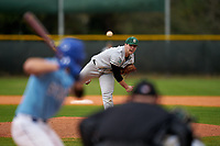 Dartmouth Big Green pitcher Austen Michel (35) during a game against the Indiana State Sycamores on February 21, 2020 at North Charlotte Regional Park in Port Charlotte, Florida.  Indiana State defeated Dartmouth 1-0.  (Mike Janes/Four Seam Images)