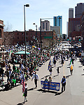 DENVER, CO - 3/13/2010:  48th Annual St. Patrick's Day Parade in downtown Denver, Colorado. The Shamrockin' theme of the 2010 parade spotlights the significant contributions the Irish have made to music over the years. Denver is home to one of the largest St. Patrick's Day Parades in the nation with close to 10,000 marchers, over 230 entries, and nearly 200,000 spectators. This years event boasted record crowds with a balmy 60 degrees for the event.  Photos by Rick D. Davis.