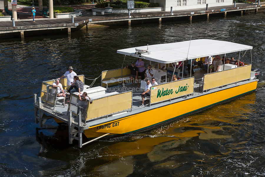 Ft. Lauderdale, Florida.  Water Taxi on the New River.