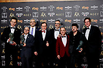 Coque Malla, Javier Gutierrez and Jesus Vidal (Goya Award winners for 'Campeones') attends to 33rd Goya Awards at Fibes - Conference and Exhibition  in Seville, Spain. February 03, 2019. (ALTERPHOTOS/A. Perez Meca)