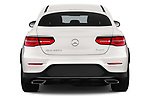 Straight rear view of a 2018 Mercedes Benz GLC Coupe base 5 Door SUV stock images