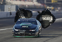 Feb 8, 2020; Pomona, CA, USA; NHRA pro stock driver Deric Kramer during qualifying for the Winternationals at Auto Club Raceway at Pomona. Mandatory Credit: Mark J. Rebilas-USA TODAY Sports