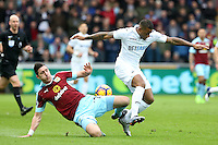 Saturday 04 March 2017<br /> Pictured: Luciano Narsingh of Swansea City <br /> Re: Swansea City v Burnley, Premier League Match at the Liberty Stadium Swansea, Wales, UK