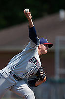 Mahoning Valley Scrappers starting pitcher James Karinchak (23) delivers a pitch during the second game of a doubleheader against the Auburn Doubledays on July 2, 2017 at Falcon Park in Auburn, New York.  Mahoning Valley defeated Auburn 3-2.  (Mike Janes/Four Seam Images)