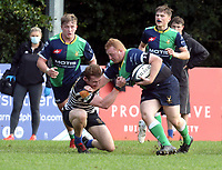 Saturday 9th October 2021<br /> <br /> Match action during the Ulster Conference League clash between CIYMS and Hinch 2s at Belmont,Belfast, Northern Ireland. Photo by John Dickson/Dicksondigital
