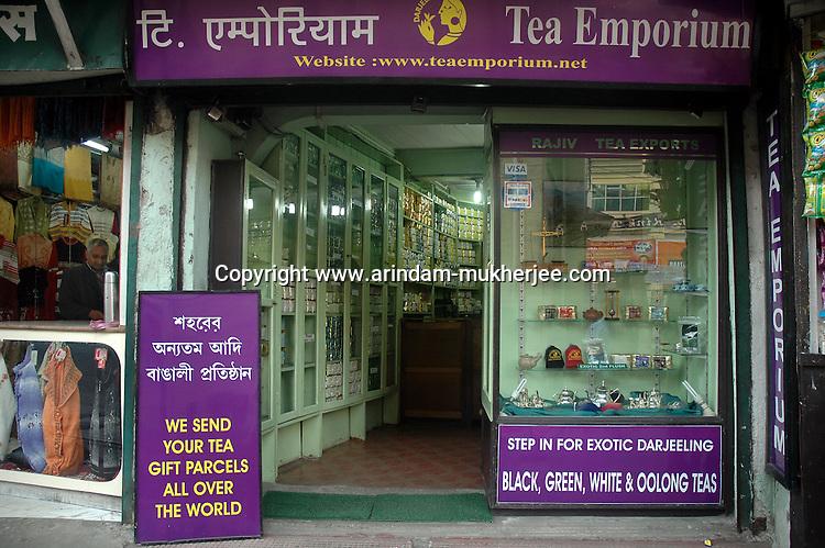 INDIA (West Bengal - Darjeeling) June 2007, Tea Emporium one of the oldest Tea exporters in Darjeeling. Darjeeling produces the best quality black tea in the world. Arindam Mukherjee