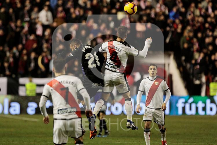 Rayo Vallecano's Alvaro Medran and CD Leganes's Youssef En-Nesyri during La Liga match between Rayo Vallecano and CD Leganes at Vallecas Stadium in Madrid, Spain. February 04, 2019. (ALTERPHOTOS/A. Perez Meca)