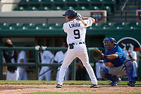Detroit Tigers Kingston Liniak (9) bats during a Florida Instructional League game against the Toronto Blue Jays on October 28, 2020 at Joker Marchant Stadium in Lakeland, Florida.  (Mike Janes/Four Seam Images)