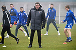 St Johnstone Training…….07.02.20<br />Manager Tommy Wright pictured during a foggy training session at McDiarmid Park this morning ahead of tomorrows Scottish Cup game at Ayr.<br />Picture by Graeme Hart.<br />Copyright Perthshire Picture Agency<br />Tel: 01738 623350  Mobile: 07990 594431