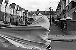 Fulham London. 1970<br /> Children playing in the Colwith Road, London W6.