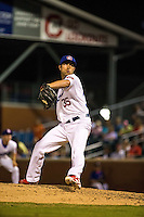 Zack Jones (35) of the Chattanooga Lookouts pitches during a game between the Jackson Generals and Chattanooga Lookouts at AT&T Field on May 8, 2015 in Chattanooga, Tennessee. (Brace Hemmelgarn/Four Seam Images)