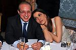 PAOLO BERLUSCONI CON PATRIZIA MARROCCO<br /> CENA DI GALA PER APERTURA SEDE A ROMA DELLA BANCA BARCLAYS<br /> PALAZZO FERRAJOLI ROMA 2010