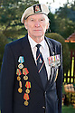 Lieutenant Commander Kenneth Reith, MB Royal Navy, who is campaigning to have the British Government award Arctic Convoy veterans a medal. The medals on the right hand side of his blazer are the medals awarded by the Russians.