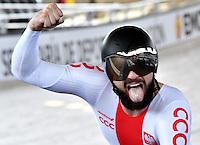 CALI – COLOMBIA – 19-02-2017: Krzysztof Maksel de Polonia, gana medalla de oro en la prueba del Kilometro hombres en el Velodromo Alcides Nieto Patiño, sede de la III Valida de la Copa Mundo UCI de Pista de Cali 2017. / Krzysztof Maksel from Poland, win gold medal in Men's Kilometer Race at the Alcides Nieto Patiño Velodrome, home of the III Valid of the World Cup UCI de Cali Track 2017. Photo: VizzorImage / Luis Ramirez / Staff.