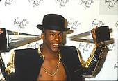 BOBBY BROWN_1990_CANDID<br /> 17TH ANNUAL AMERICAN MUSIC AWARDS-SHRINE AUDITRORIUM-LOS ANGELES, CA.-JANUARY 22, 1990<br /> Photo Credit: JEFFREY MAYER:AtlasIcons.com