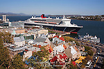 Place-Royale and Vieus-Port with the Queen Mary 2, Quebec City, Canada