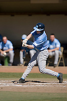 Ben Bunting (3) of the North Carolina Tar Heels makes contact versus the St. John's Red Storm at the 2008 Coca-Cola Classic at the Winthrop Ballpark in Rock Hill, SC, Sunday, March 2, 2008.