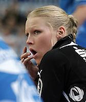 """1. Bundesliga Handball Damen - Frauen Handball BL DHB - Arena Leipzig - HC Leipzig : TSV Bayer 04 Leverkusen """"Handballelfen"""" - im Bild: HCL Spielerin Maria Kiedrowski / Porträt . Foto: Norman Rembarz..Norman Rembarz , Autorennummer 41043728 , Augustenstrt. 2, 04317 Leipzig, Tel.: 01794887569, Hypovereinsbank: BLZ: 86020086, KN: 357889472, St.Nr.: 231/261/06432 - Jegliche kommerzielle Nutzung ist honorar- und mehrwertsteuerpflichtig! Persönlichkeitsrechte sind zu wahren. Es wird keine Haftung übernommen bei Verletzung von Rechten Dritter. Autoren-Nennung gem. §13 UrhGes. wird verlangt. Weitergabe an Dritte nur nach  vorheriger Absprache.."""