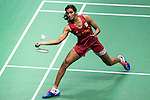 Pusarla V. Sindhu of India competes against Cheung Ngan Yi of Hong Kong during their Women's Singles Semi-Final of YONEX-SUNRISE Hong Kong Open Badminton Championships 2016 at the Hong Kong Coliseum on 26 November 2016 in Hong Kong, China. Photo by Marcio Rodrigo Machado / Power Sport Images