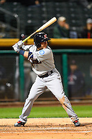Daniel Robertson (2) of the Tacoma Rainiers at bat against the Salt Lake Bees in Pacific Coast League action at Smith's Ballpark on June 13, 2016 in Salt Lake City, Utah. The Rainiers defeated the Bees 3-1.  (Stephen Smith/Four Seam Images)
