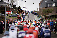 an Orica-greenEDGE rider trying to outrun the peloton up the Berendries<br /> <br /> 71st Dwars door Vlaanderen (1.HC)