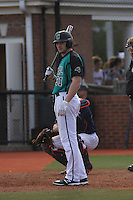 Coastal Carolina Chanticleers outfielder Bryce Dial #31 at bat during a game against the University of Virginia Cavaliers at Watson Stadium at Vrooman Field on February 18, 2012 in Conway, SC.  Virginia defeated Coastal Carolina 9-3. (Robert Gurganus/Four Seam Images)