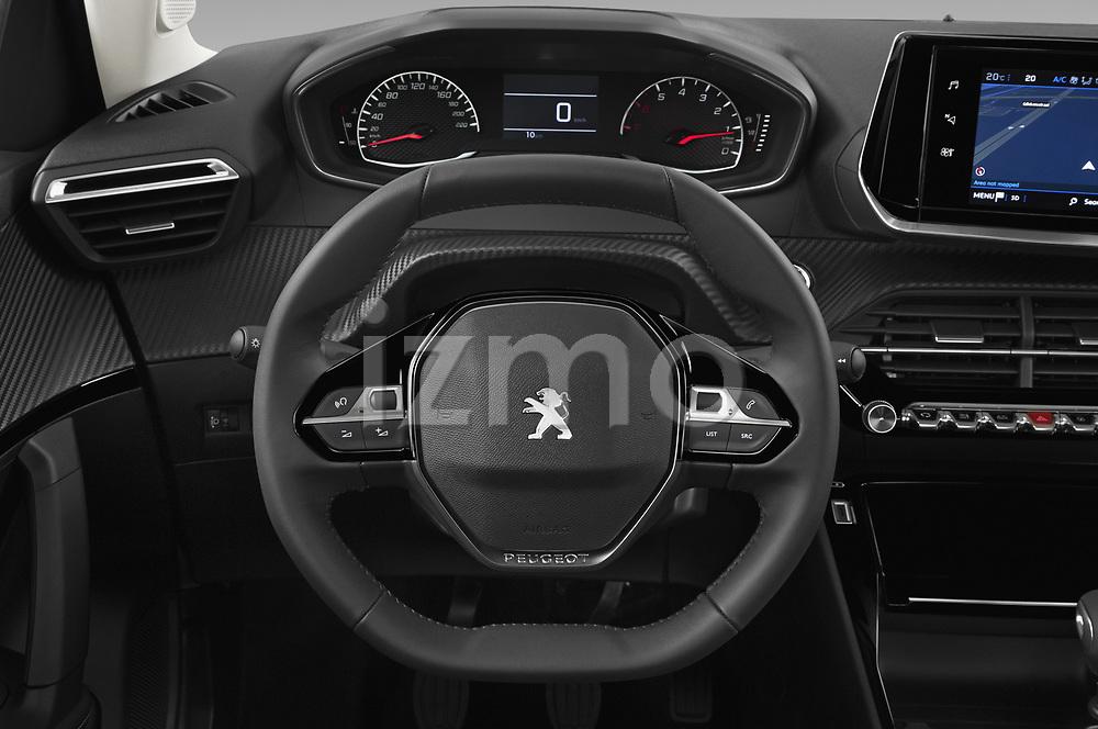 Car pictures of steering wheel view of a 2021 Peugeot 2008 Allure 5 Door SUV Steering Wheel