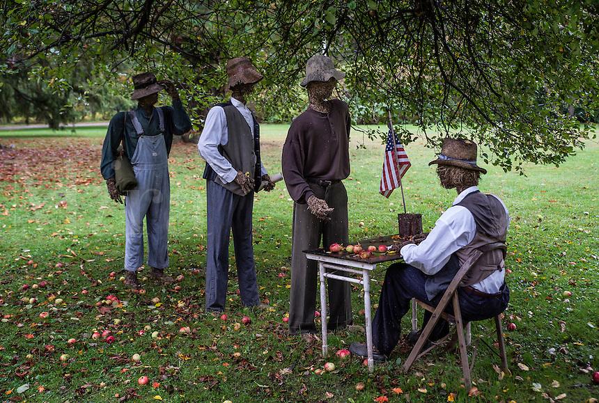 Strawman rennactment of army recruitment efforts to enlist black men following Lincoln's Emancipation Proclamation. 54th Massachusetts regiment.