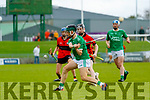 Kyle O'Connor Ballyduff during the Kerry County Minor Hurling Championship Final match between Ballyduff and Ballyheigue at Austin Stack Park in Tralee, Kerry.