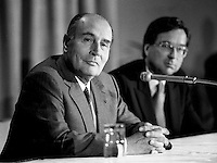 May 27 1987 File Photo - Montreal, Quebec, CANADA - Francois Mitterand, French President visit in Montreal