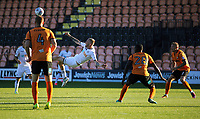 Pictured: Oliver McBurnie of Swansea City attempts to score with a bicycle kick. Wednesday 12 July 2017<br /> Re: Pre-season friendly, Barnet v Swansea City FC at The Hive, London, UK