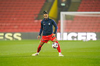 Garath McCleary of Wycombe Wanderers warms up ahead of the Sky Bet Championship behind closed doors match between Watford and Wycombe Wanderers at Vicarage Road, Watford, England on 3 March 2021. Photo by David Horn.