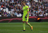 Joe Hart of West Ham in action during the Premier League match between West Ham United v Swansea City at the London Stadium, London, England, UK. Saturday 30 September 2017