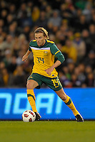 MELBOURNE, AUSTRALIA - JUNE 7: Brett Holman of the Socceroos controls the ball during an international friendly match between the Qantas Australian Socceroos and Serbia at Etihad Stadium on June 7, 2011 in Melbourne, Australia. Photo by Sydney Low / AsteriskImages.com