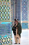 """5 June 2013, Mazar-i-Sharif, Afghanistan. The Shrine of Hazrat Ali, also known as the Blue Mosque, is a mosque in Mazar-i-Sharif, Afghanistan. It is one of the reputed burial places of Ali ibn Abi Talib, cousin and son-in law of Muhammad. The mazar is the building which gives the city in which it is located, Mazar-i-Sharif (meaning """"Tomb of the Exalted"""") its name. Picture by Graham Crouch/World Bank"""