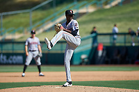 Inland Empire 66ers relief pitcher Jorge Tavarez (2) during a California League game against the Lake Elsinore Storm on April 14, 2019 at The Diamond in Lake Elsinore, California. Lake Elsinore defeated Inland Empire 5-3. (Zachary Lucy/Four Seam Images)