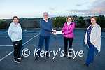 Fionnbar Walsh of the Donal Walsh Foundation presents Bridie O'Sullivan of The Samaritans the sum of €1,500 from the Donal Walsh Foundation from the proceeds of the Jerusalema dance challenge which was done by the Bons Secours Hospital.  <br /> L to r: Andrea O'Donoghue, Fionnbar Walsh, Bridie O'Sullivan and Elma Walsh.