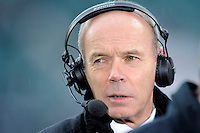 Sir Clive Woodward commentating for Sky during the QBE International match between England and South Africa at Twickenham Stadium on Saturday 15th November 2014 (Photo by Rob Munro)