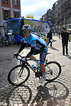 Michal Kwiatkowski (POL) Omega Pharma-Quick Step makes his way to sign on before the start of the 98th edition of Liege-Bastogne-Liege outside the Palais des Princes-Eveques, running 257.5km from Liege to Ans, Belgium. 22nd April 2012.  <br /> (Photo by Eoin Clarke/NEWSFILE).