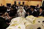 Israel, Bnei Brak. The Synagogue of the Premishlan congregation, Simchat Torah (on the eights day of Succot), rejoicing the Torah<br />
