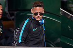 Neymar arrives at the team hotel the day before UEFA Champions League match between Atletico de Madrid and FC Barcelona at Hotel Eurostars in Madrid. April 13, 2016. (ALTERPHOTOS/Borja B.Hojas)